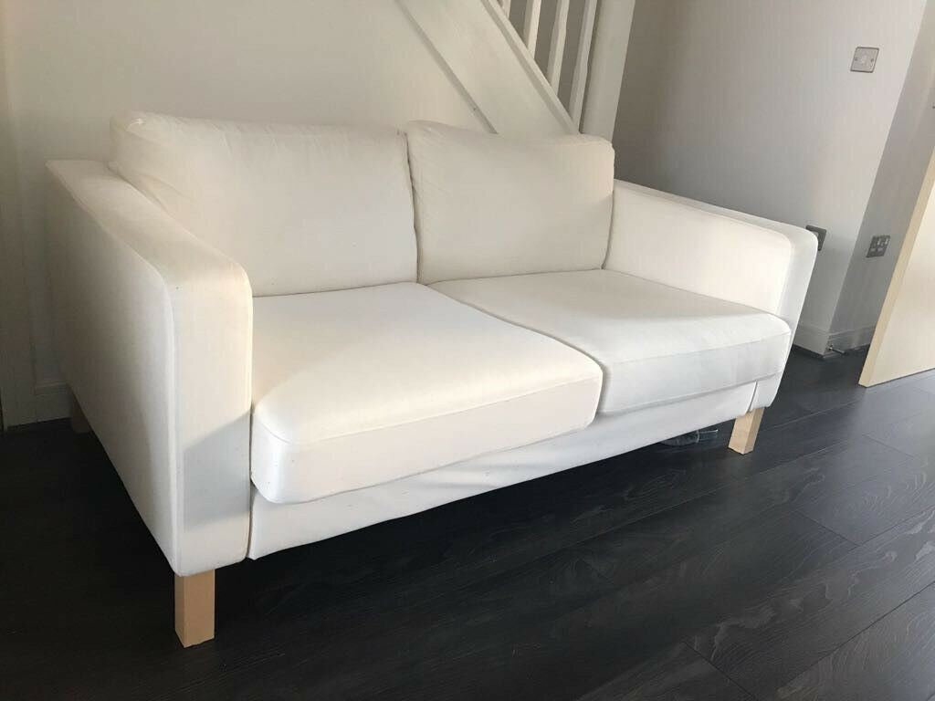 IKEA 2 seater white sofa removable covers