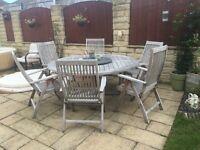 Solid teak reclining garden chair