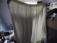 FOR SALE - pair beautiful off-white/cream embroidered curtains