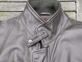 Massimo Dutti Brown Nappa Leather Jacket BNWOT Large (40 Chest) Excellent condition