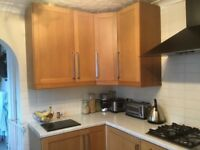 Beech kitchen units to include appliances
