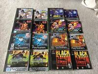 PlayStation one games all complete from£3.50