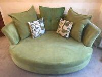 Green DFS Cuddler 3 Seater Sofa - Absolute Bargain!!!