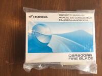 Honda CBR900RR Fireblade owners manual