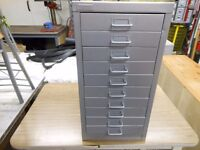 10 drawer metal tool cabinet in excellent condition