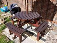 8 seater garden bench