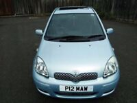 Lowest mileage Toyota Yaris 1.3 Automatic,5 Door+FSH +1 yr MOT
