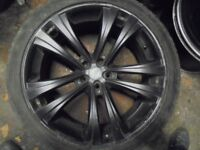 22inch mainia alloy single wheel 5x120 with tyre fits x5 range rover
