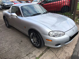 Mazda MX-5 1.6 Euphonic Limited Edition 2dr - Hard Top, 2 Owners, 8 Services, 12 Months MOT, £1995