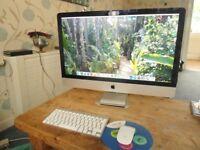 "Apple iMac 27"" Desktop - intel core i7 late 2012"