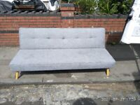 Sofa bed 3 seat reclining type, come with arm rests.