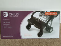 Pushchair Board/Universal Buggy Board- My Child On Board-from a smoke free home