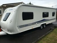 Hobby Caravan 720 Prestige (2010) Awning, Wheel Clamp And Hitch Lock. Like Tabbert And Fendt