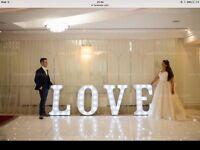 Special offer white LED dancefloor and White LED LOVE letters