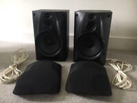 Sony Hi-Fi speakers with cabling