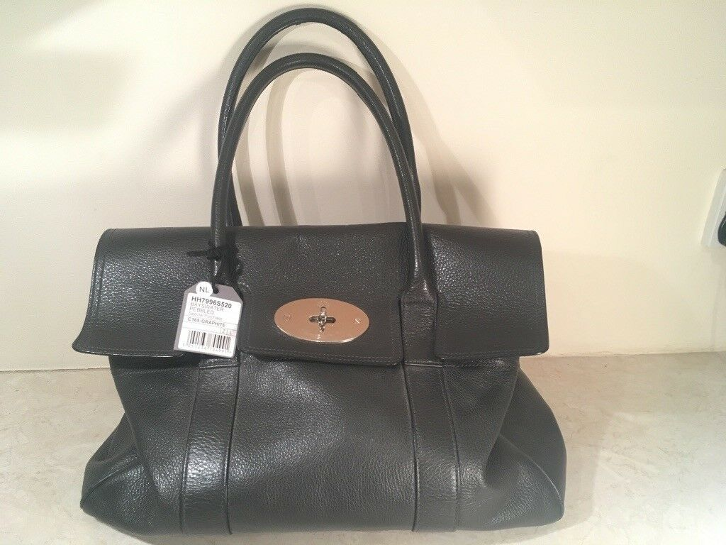 Mulberry Bayswater Pebbled Graphite Bag  e0eedfe370a4d