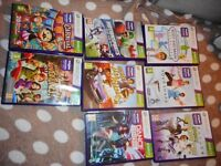 xbox 360 kinnect 8 games