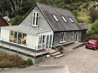 Detached House to rent in Kippford with sea views and quiet location