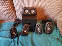 Logitech Surround Speakers Model Z506 Mint Condition £50