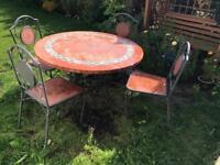 Beautiful dining garden tailed table witch 4 chairs