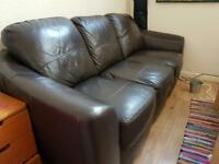 Free leather 3 seater sofa settee