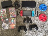 Nintendo Switch console and bundle including 4 games