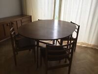 Retro gate leg table and chairs Cheshire