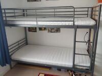 Ikea bunk bed + 2 mattresses + 2 mattress protectors