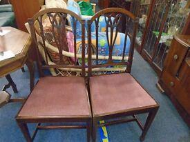 2 pierced splat back chairs.