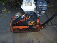 MBW GP1600 wacker plate compactor With Honda GX 120 engine