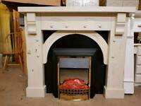 Fireplace with electric fire. Fireplace is SOLD.