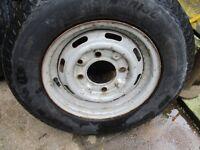 caravan trailer spare wheel