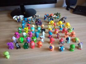 25 gogos, 20 trash pack figures, and 11 other small figures