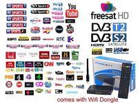 1080P DVB-S2 Digital TV BOX HD Receiver Usb Wifi UK Europe International Premium Channels