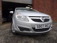 💥 07 VAUXHALL CORSA 1.2,MOT AUG 017,2 OWNERS,PART SERVICE HISTORY,VERY RELIABLE SMALL CAR