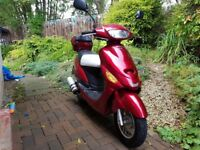50cc Scooter 2015 65 plate 2500miles Excellent Condition