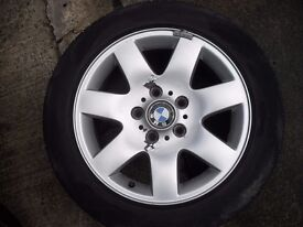 """bmw 16"""" alloy wheel and tyre"""