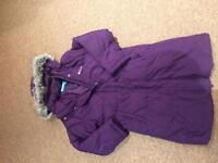 Girls mountain warehouse long coat age 9-10
