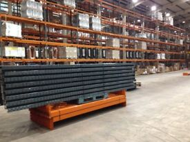 job lot 50 bays of dexion pallet racking 2.4 meters high( storage , industrial shelving )