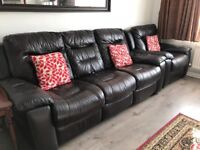 Dfs recliner leather sofa