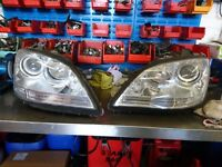 Mercedes Benz M-CLASS front Headlights (Left & Right) (GENUINE)