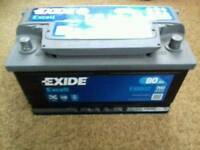 Exide 5d 80ah Car battery