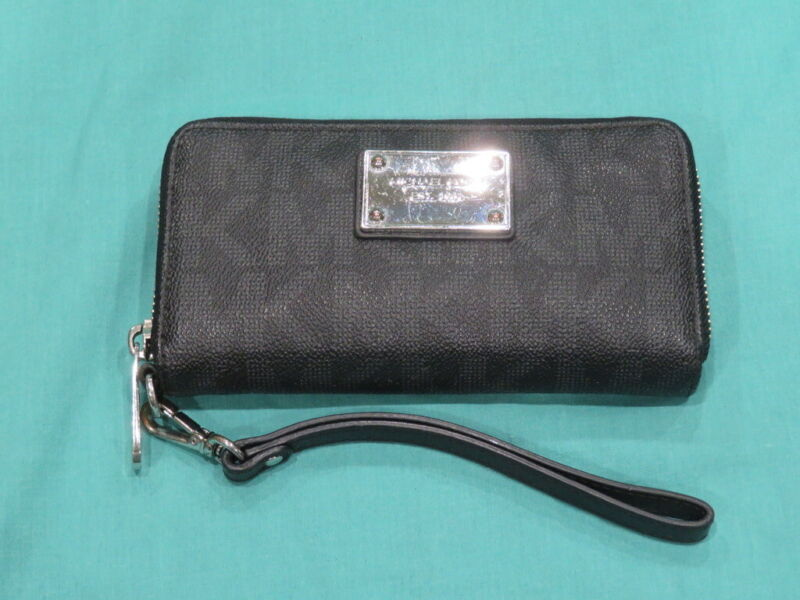 Contacts Femmes V/éritable Carte en Cuir Porte-Monnaie Double Zipper Clutch Portefeuille Gris