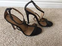 Office leather heels size 5