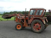 ZETOR 4712 ZETORMATIC 2-WD TRACTOR WITH LOADER AND BUCKET