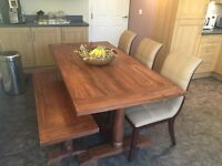 Ding table with bench and John Lewis chairs (x4)