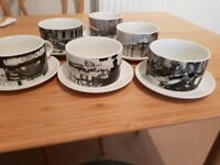 Set of 6 Cups and Saucers