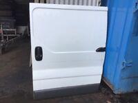 Vauxhall Vivaro side loading door white
