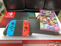 Nintendo Switch with Mario kart 8 brand new