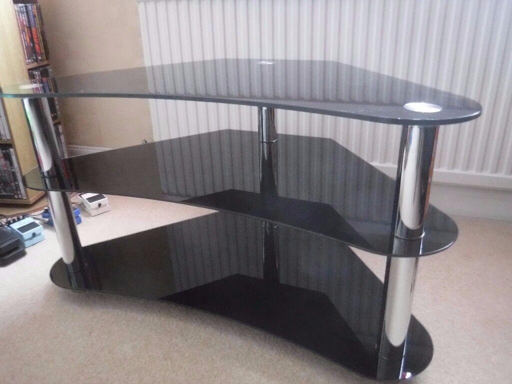 Glass Corner TV Stand
